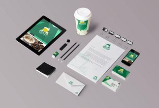 [Student work] Bộ nhận diện thương hiệu trà và cafe đơn giản nhưng tinh tế